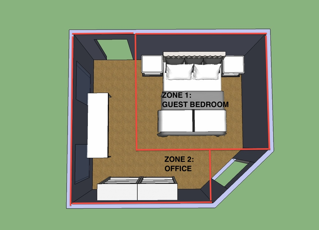 How to make an office guest bedroom work hale brock for Office room layout